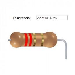 RESISTENCIA CARBON      1.00 OHMS  0.25 WATT