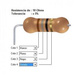 RESISTENCIA CARBON      2.70 OHMS  0.25 WATT
