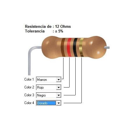 RESISTENCIA CARBON     18.00 OHMS  0.25 WATT