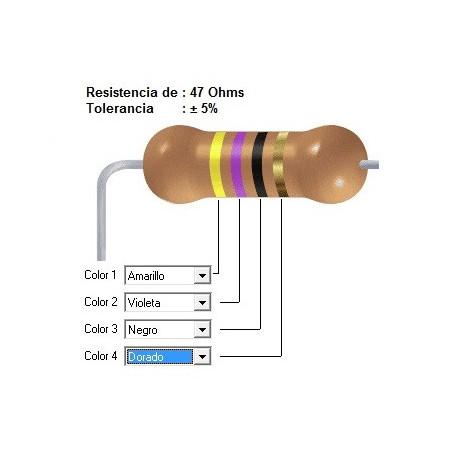 RESISTENCIA CARBON      8.20 OHMS  0.25 WATT