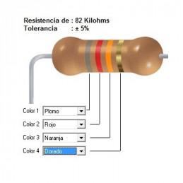 RESISTENCIA CARBON  56.00 KOHMS    0.25 WATT