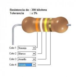 RESISTENCIA CARBON 270.00 KOHMS    0.25 WATT