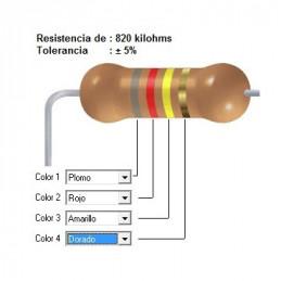 RESISTENCIA CARBON 750.00 KOHMS    0.25 WATT