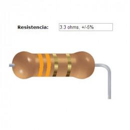RESISTENCIA CARBON      2.70 OHMS  0.50 WATT