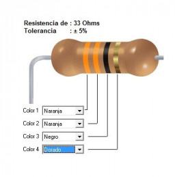 RESISTENCIA CARBON     27.00 OHMS  0.50 WATT