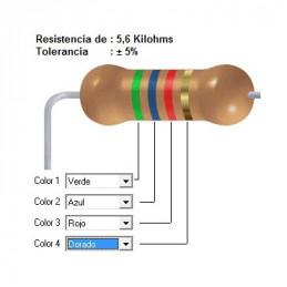 RESISTENCIA CARBON   4.70 KOHMS    0.50 WATT