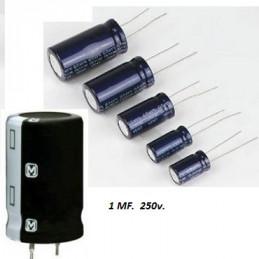 CONDENSADOR ELECTROLITICO      1.00 MF *    50 VOLT