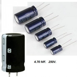 CONDENSADOR ELECTROLITICO      4.70 MF *  100 VOLT