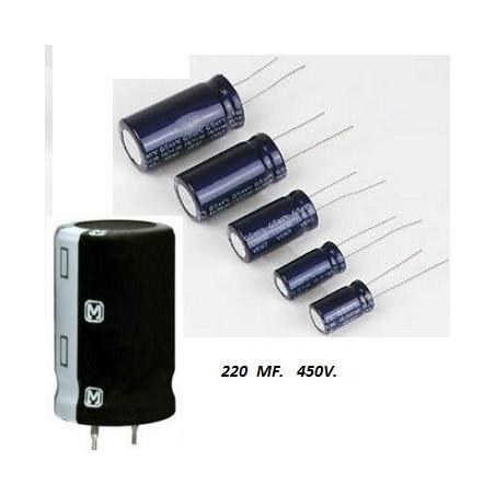 CONDENSADOR ELECTROLITICO    220.00 MF *    50 VOLT