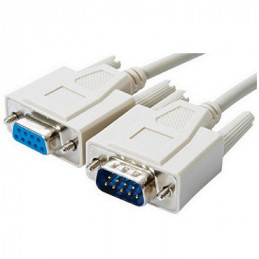 CABLE DB9 (1)PLUG  (1)JACK DB9   1.80 MTS.