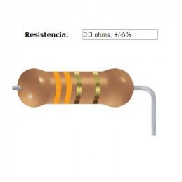 RESISTENCIA CARBON      1.00 OHMS  1    WATT