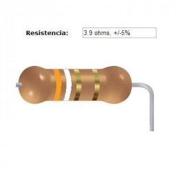 RESISTENCIA CARBON      3.30 OHMS  1    WATT