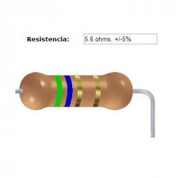 RESISTENCIA CARBON      4.70 OHMS  1    WATT