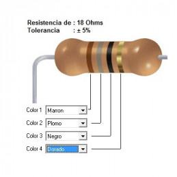 RESISTENCIA CARBON     10.00 OHMS  1    WATT