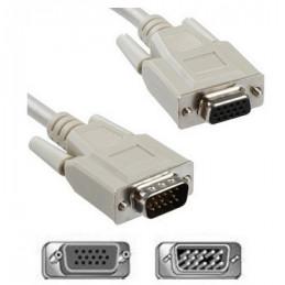 CABLE VGA (1)PLUG  (1)JACK VGA   3.00 MTS.