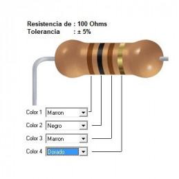 RESISTENCIA CARBON     75.00 OHMS  1    WATT