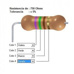 RESISTENCIA CARBON    560.00 OHMS  1    WATT