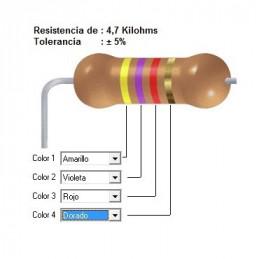 RESISTENCIA CARBON   3.30 KOHMS    1    WATT