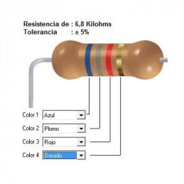 RESISTENCIA CARBON   5.60 KOHMS    1    WATT