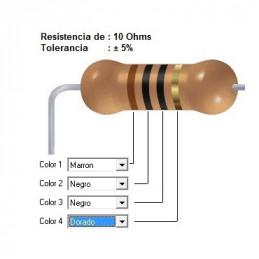 RESISTENCIA CARBON      6.80 OHMS  2    WATT