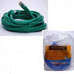 CABLE RED RJ45-RJ45 M/M  3.00 MTS. VERDE/AZUL          3.704