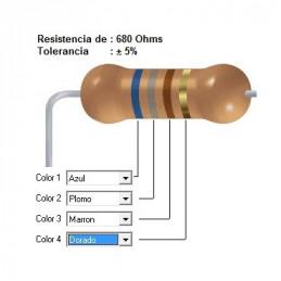 RESISTENCIA LOZA 470.00 KOHMS  3.00 WATT