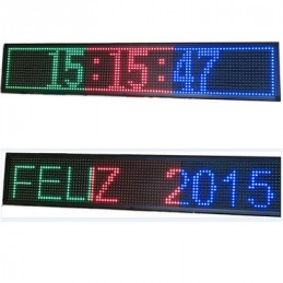 LETRERO LED PROGRAMABLE  1.00 X 0.20 MULTICOLOR 5C