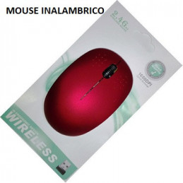 MOUSE OPTICO PS2   ROJO/NEGRO
