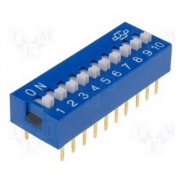 DIP SWITCH  4 PUNTOS  8 PINES 2,54 MM. SPST