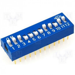 DIP SWITCH 10 PUNTOS 20 PINES 2,54 MM. SPST