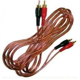 CABLE RCA (2)PLUG  (2)PLUG RCA  1.50 MTS. 4 MM. DIAMETRO