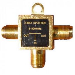 MEZCLADOR UHF/VHF (3)JACK 'F' TIPO 'T'