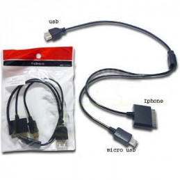 CABLE IPHONE 4/MICRO 5...