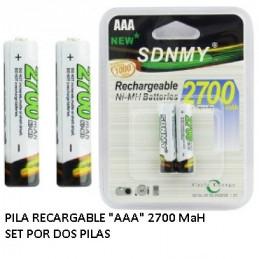 PILA NI-MH AA     1.40 V   2500 MA  (2   AA)           4.153