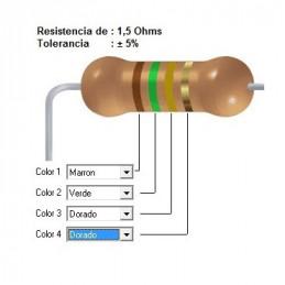 RESISTENCIA CARBON      1.20 OHMS  0.50 WATT