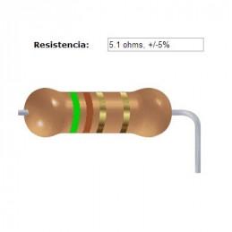 RESISTENCIA CARBON      4.70 OHMS  0.25 WATT