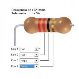 RESISTENCIA CARBON     10.00 OHMS  0.25 WATT