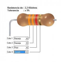 RESISTENCIA CARBON   2.70 KOHMS    0.25 WATT