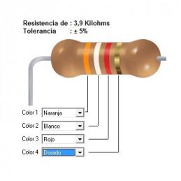 RESISTENCIA CARBON   3.30 KOHMS    0.25 WATT