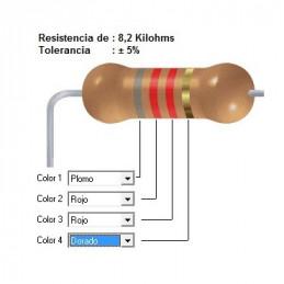 RESISTENCIA CARBON   6.20 KOHMS    0.25 WATT