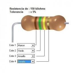 RESISTENCIA CARBON 100.00 KOHMS    0.25 WATT