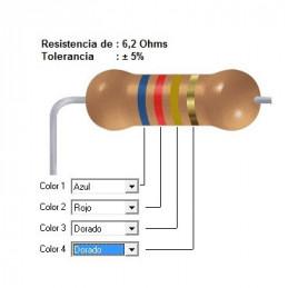 RESISTENCIA CARBON      4.70 OHMS  0.50 WATT