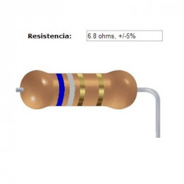 RESISTENCIA CARBON      6.20 OHMS  0.50 WATT