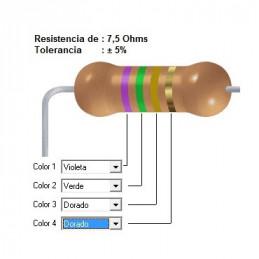 RESISTENCIA CARBON      6.80 OHMS  0.50 WATT