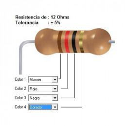 RESISTENCIA CARBON      8.20 OHMS  0.50 WATT