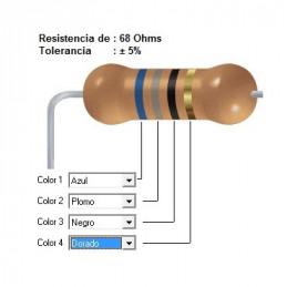 RESISTENCIA CARBON     39.00 OHMS  0.50 WATT