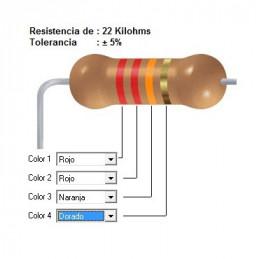 RESISTENCIA CARBON  18.00 KOHMS    0.50 WATT