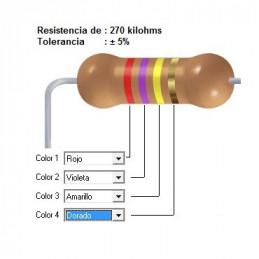 RESISTENCIA CARBON 180.00 KOHMS    0.50 WATT