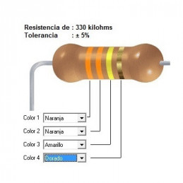 RESISTENCIA CARBON 270.00 KOHMS    0.50 WATT