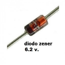 DIODO ZENER 1N-4734A   5.6 V.  1.00 WATT  DO-41